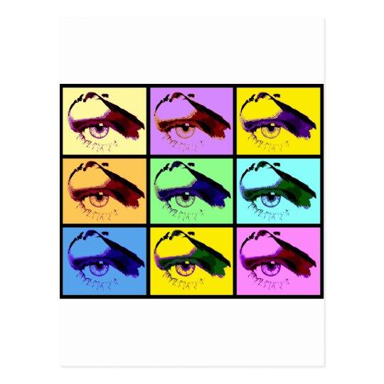 Eye See You (Pop-Art Colour) Postcard