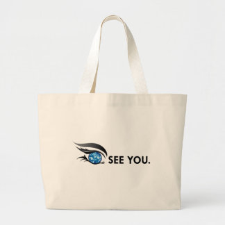 "EYE SEE YOU ""SEPTEMBER SAPPHIRE BLUE"" LARGE TOTE BAG"