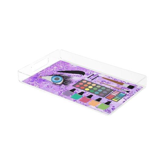 Eye Shadows & Nail Polishes Purple Bokeh Bling