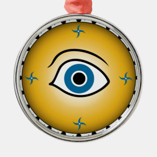 eye shield Silver-Colored round decoration