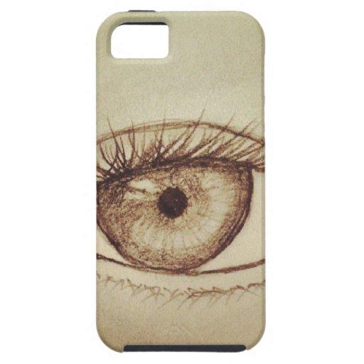 Eye Sketch iPhone 5 Covers