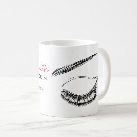 Eye Sketch Mascara Lash Extension Coffee Mug