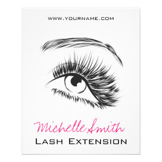 Eye Sketch Mascara Lash Extension Flyer