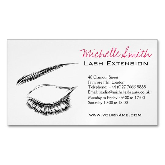Eye Sketch Mascara Lash Extension Magnetic Business Card