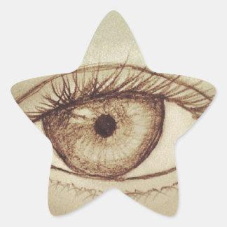 Eye Sketch Star Sticker