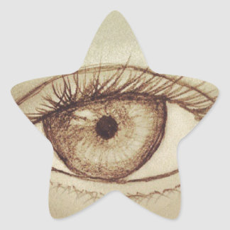 Eye Sketch Star Sticker
