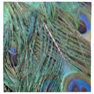 Eye Spots On A Peacock Napkin
