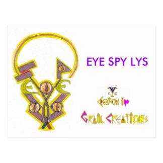 EYE SPY LYS POSTCARD