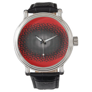 Eye Spy Red Pop Art Watch