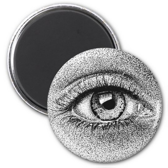 Eye Study Ink Drawing Magnet
