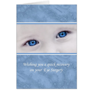 Eye Surgery Recovery, Get Well Soon, Big Blue Eyes Card