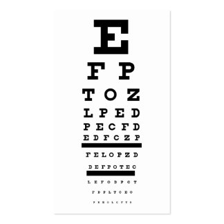 eye test Double-Sided standard business cards (Pack of 100)