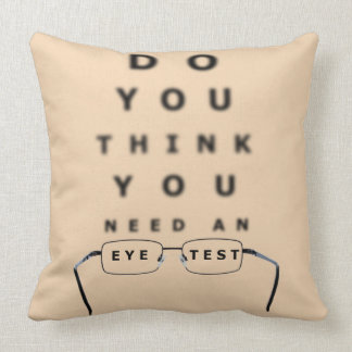 Eye Test Chart Cushion