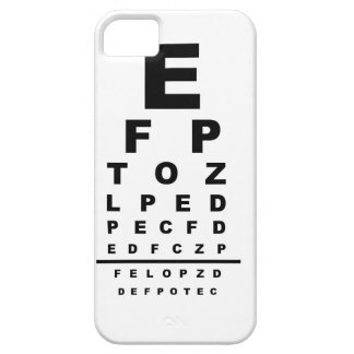 Eye Test Chart iPhone 5 Cases