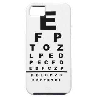 Eye Test Chart iPhone 5 Cover