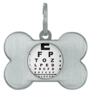 Eye Test Chart Pet ID Tag