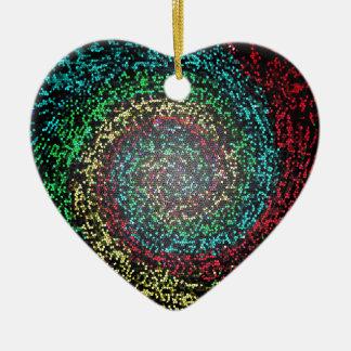 Eye test spiral christmas ornament