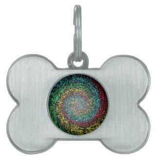 Eye test spiral pet tag