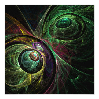 Eye to Eye Abstract Art 13 Cm X 13 Cm Square Invitation Card