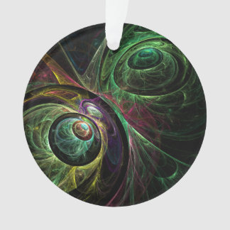 Eye to Eye Abstract Art Acrylic Circle Ornament
