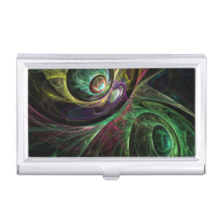 Eye to Eye Abstract Art Business Card Holder