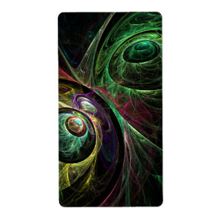 Eye to Eye Abstract Art Fractal Shipping Label