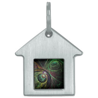 Eye to Eye Abstract Art House Pet ID Tag