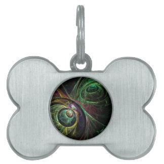 Eye to Eye Abstract Art Pet Name Tag