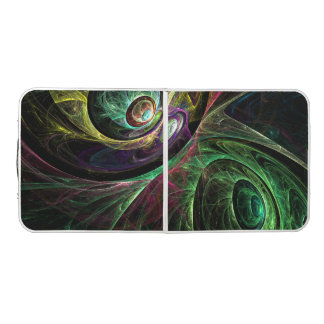 Eye to Eye Abstract Art Pong Table