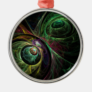 Eye to Eye Abstract Art Round Christmas Ornament