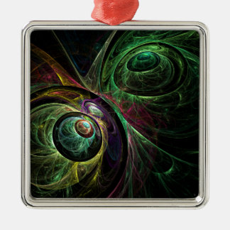 Eye to Eye Abstract Art Square Christmas Ornament
