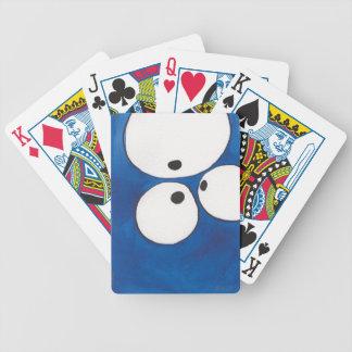 Eye to Eye to Eye, Blue,  Playing Cards