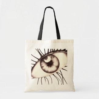 eye budget tote bag