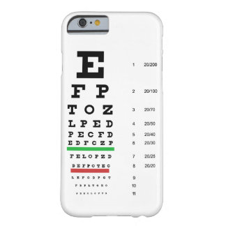 eye vision chart of Snellen for opthalmologist iPhone 6 Case