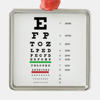 eye vision chart of Snellen for opthalmologist Christmas Ornament