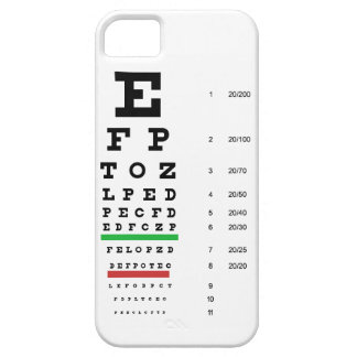 eye vision chart of Snellen for opthalmologist iPhone 5 Case