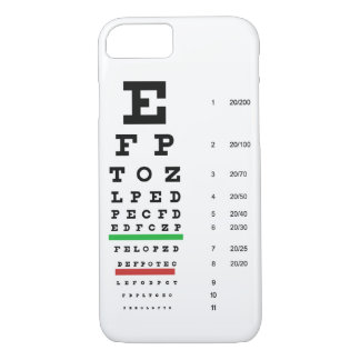 eye vision chart of Snellen for opthalmologist iPhone 8/7 Case