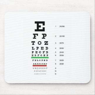 eye vision chart of Snellen for opthalmologist Mouse Pad