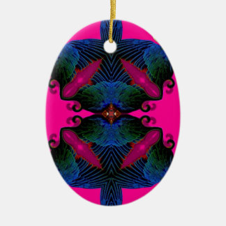 Eye Wide open Crazy Art Ceramic Oval Decoration