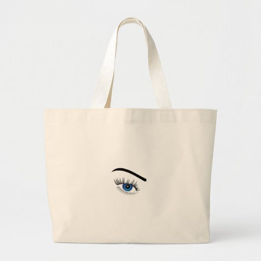 Eye with contact lens canvas bag