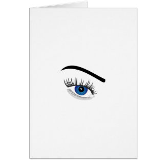 Eye with contact lens greeting card