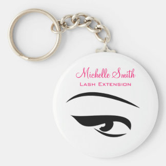 Eye with eyeliner lash extension branding key ring