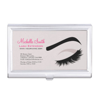 Eye with long lashes lash extension branding business card holder