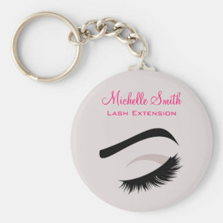 Eye with long lashes lash extension branding key ring