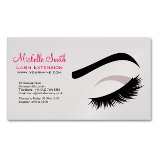 Make up artist business cards business card printing for Eyelash extension gift certificate template