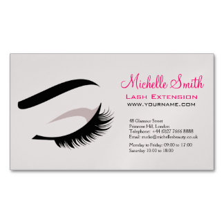 Eye with long lashes lash extension branding Magnetic business card