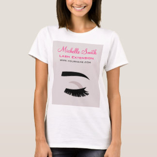 Eye with long lashes lash extension branding T-Shirt