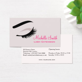 Eye with long lashes Lash Extension business card