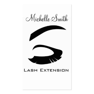 Eye with long lashes Lash Extension business card Pack Of Standard Business Cards