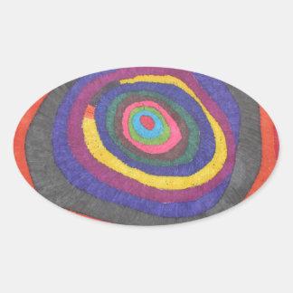 Eyeball 2 oval sticker